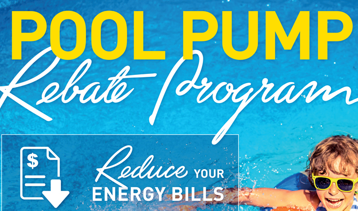 Pool Pump Rebate campaign
